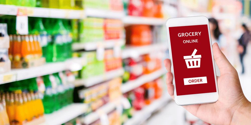 grocery ecommerce store website development with application